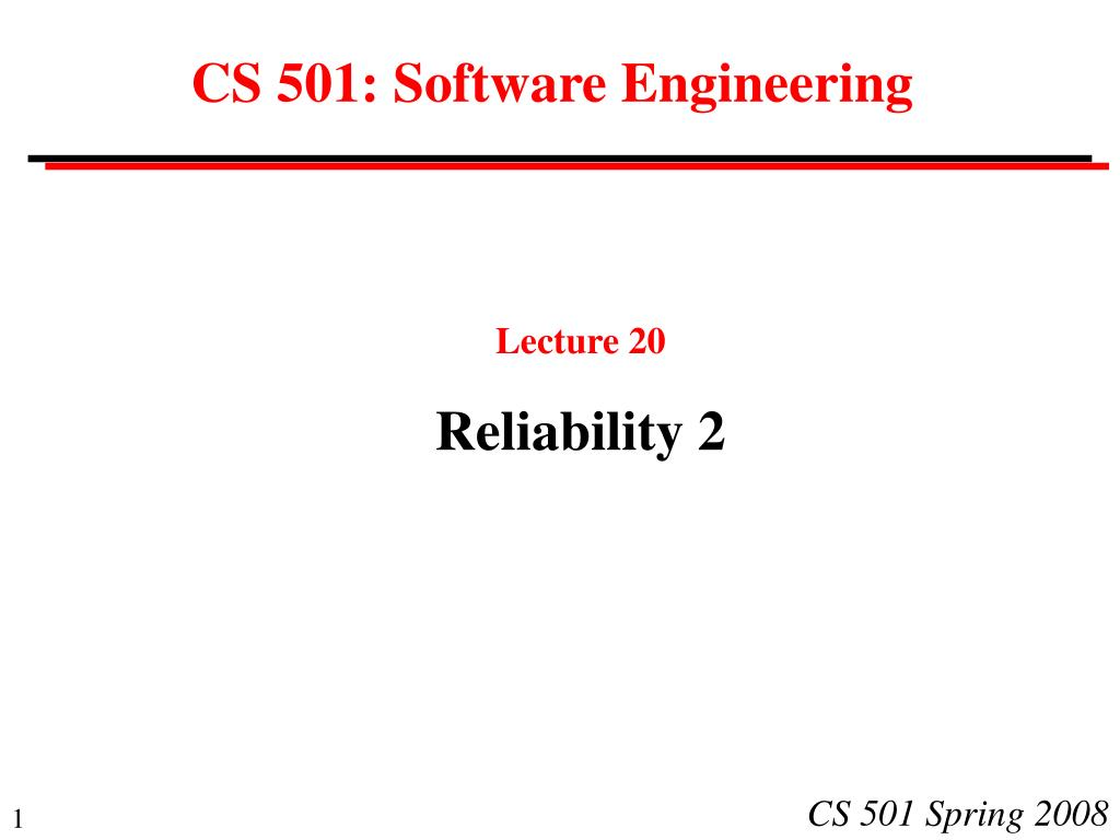 cs 501 software engineering l.