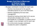 bungee cord use in warm ups in vertical jumps rule 7 2 11 note24