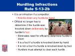 hurdling infractions rule 5 13 2b