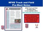 nfhs track and field pre meet notes