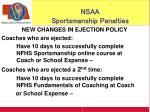 nsaa sportsmanship penalties