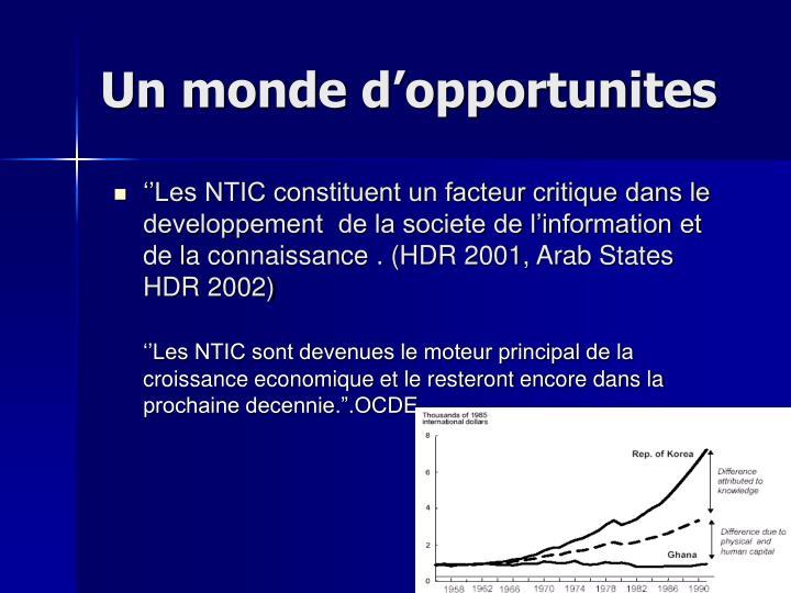 Ppt politiques internationales et developpement des tic - Port autonome du centre et de l ouest ...