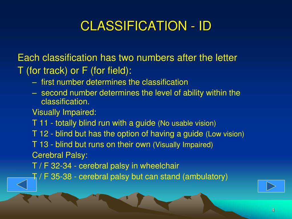 CLASSIFICATION - ID
