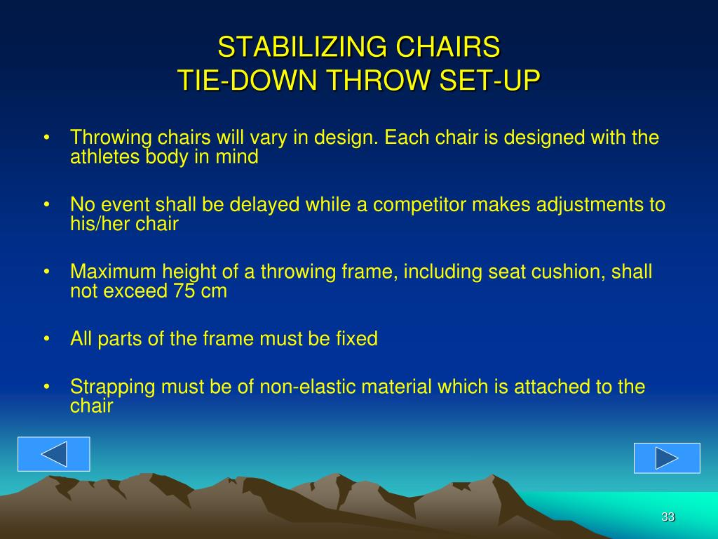 STABILIZING CHAIRS