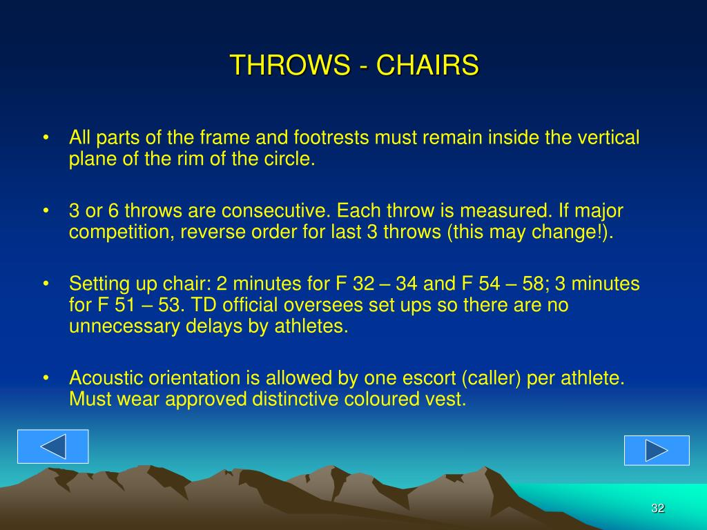 THROWS - CHAIRS
