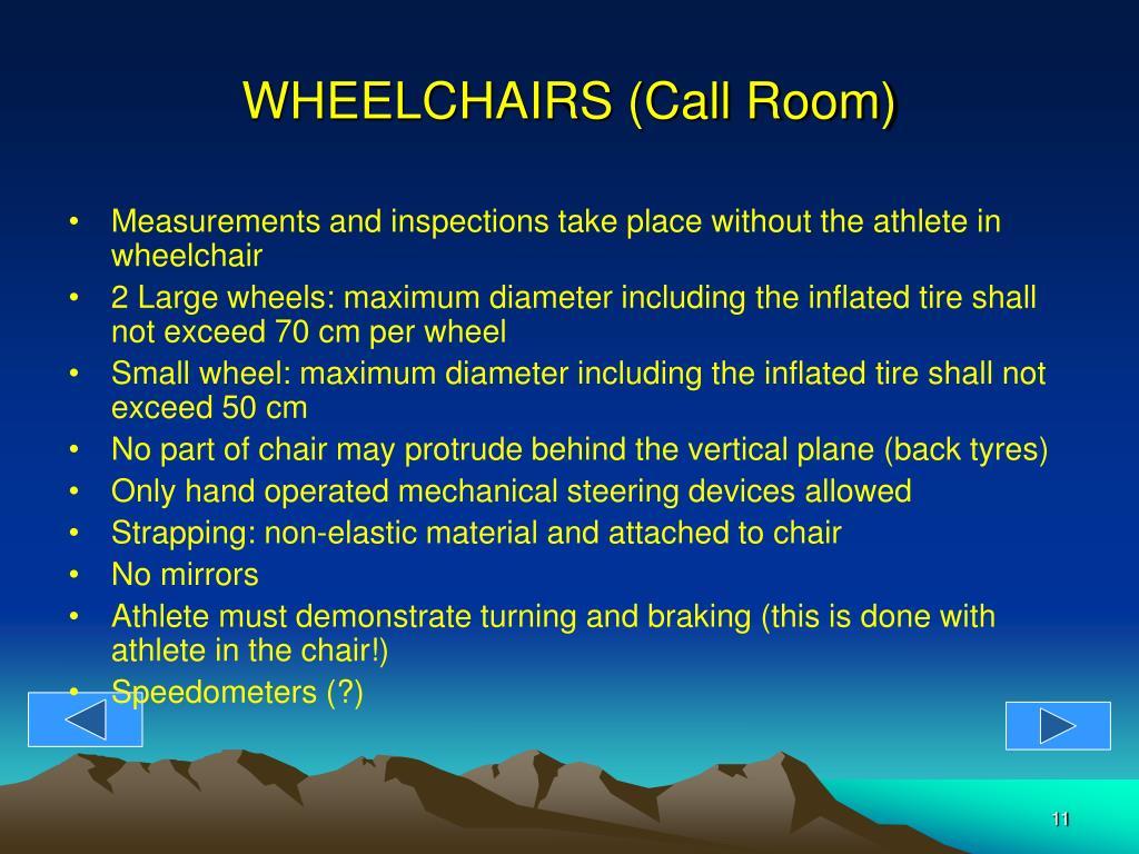 WHEELCHAIRS (Call Room)
