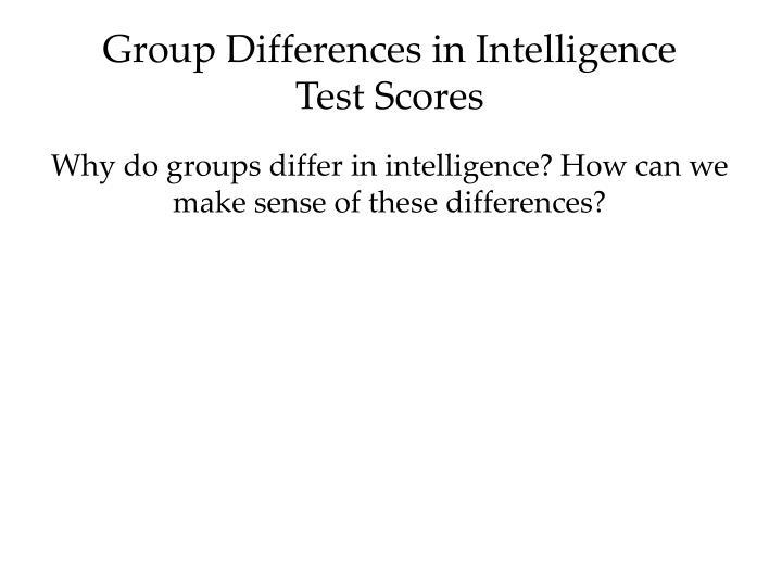 group intelligence test