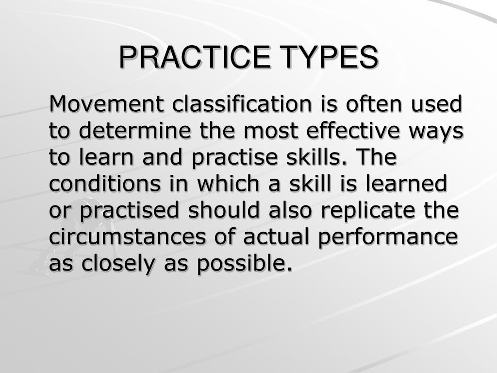 practice types l.