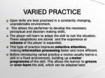 varied practice