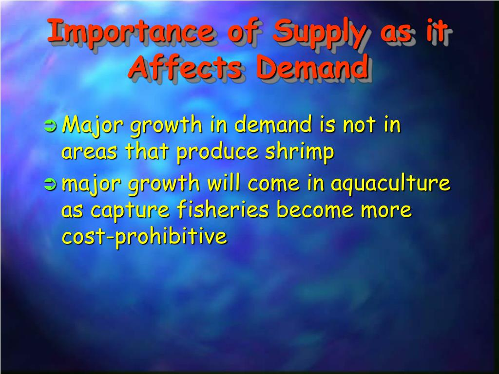 Importance of Supply as it Affects Demand