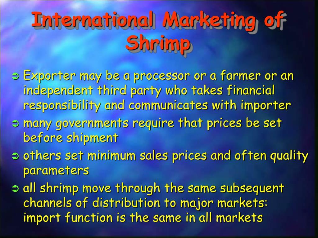 International Marketing of Shrimp