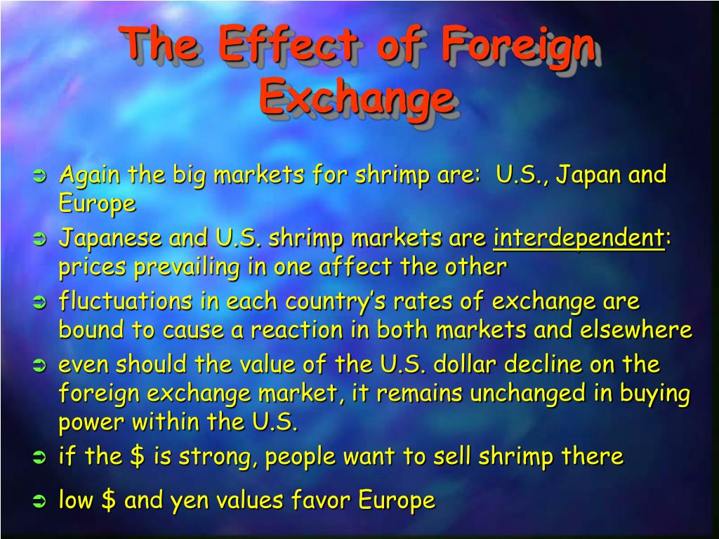 The Effect of Foreign Exchange