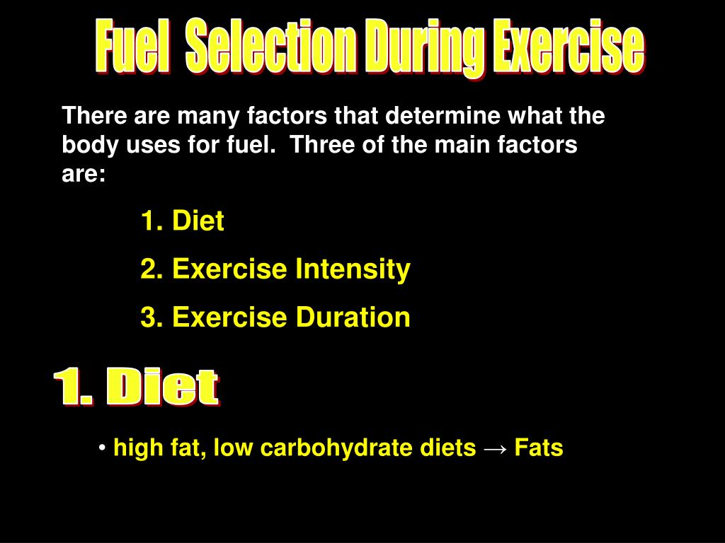 Fuel  Selection During Exercise