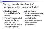 chicago non profits seeding entrepreneurship programs ideas