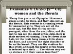 pausanias 5 16 2 3 2 nd ce women and the heraia