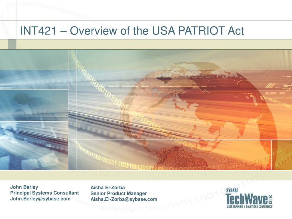 impact of the usa patriot act The usa patriot act, foreign intelligence surveillance despite the sunset provisions, the act has far reaching impact on the privacy rights of.