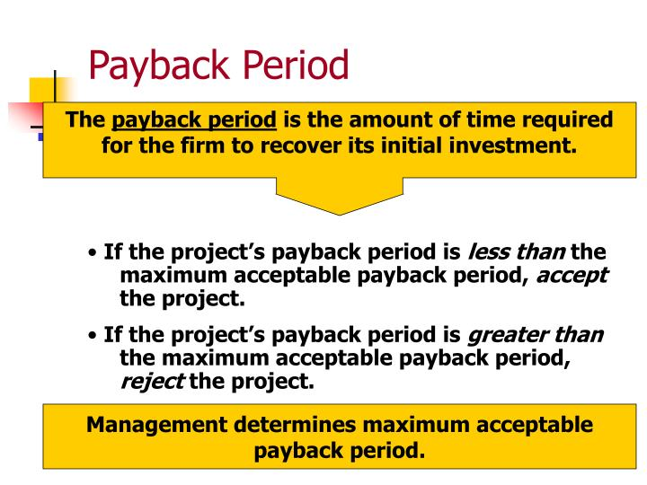 Greater amount payback time