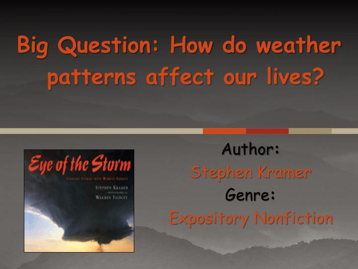 author stephen kramer genre expository nonfiction n.