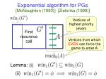 exponential algorithm for pgs mcnaughton 1993 zielonka 1998