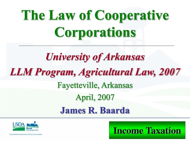the law of cooperative corporations n.
