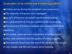 evaluation of an online use e learning platform33