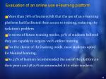 evaluation of an online use e learning platform34