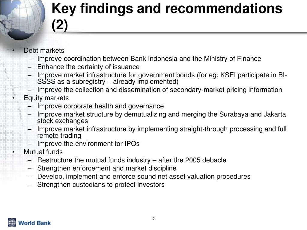Key findings and recommendations (2)
