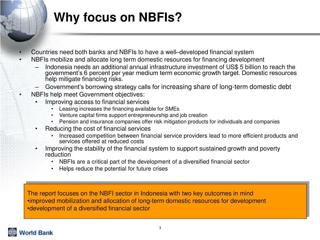 Why focus on NBFIs?