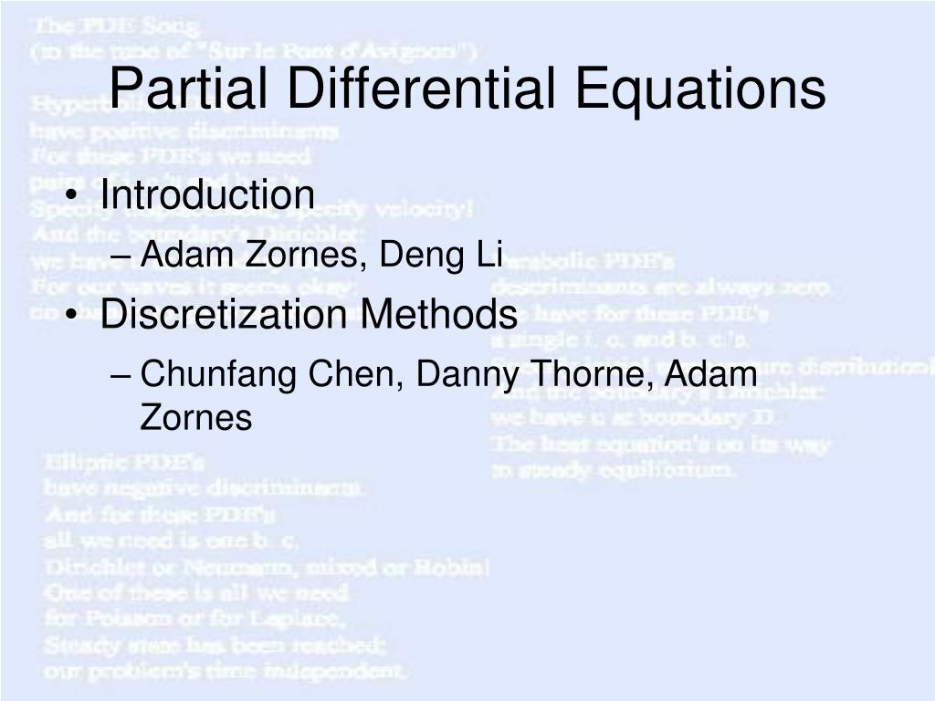 partial differential equations l.
