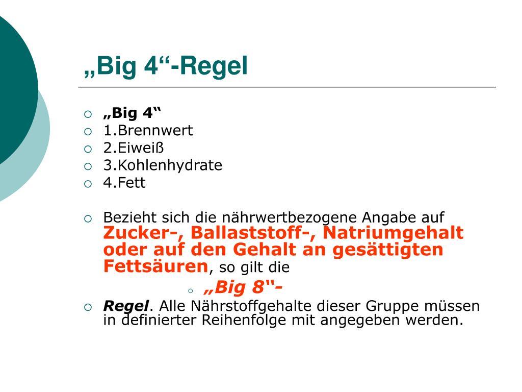 """""""Big 4""""-Regel"""