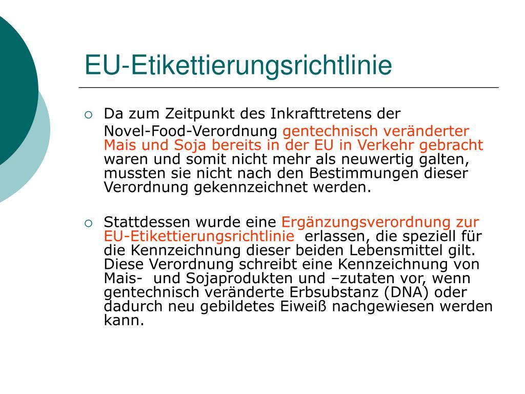 EU-Etikettierungsrichtlinie