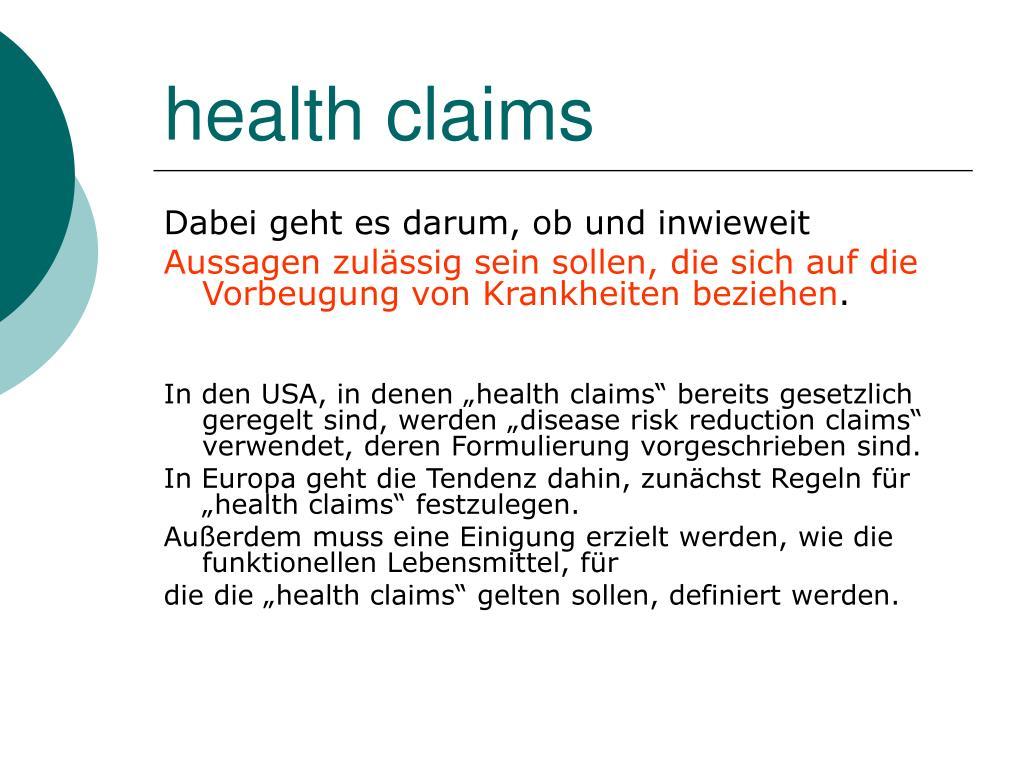 health claims