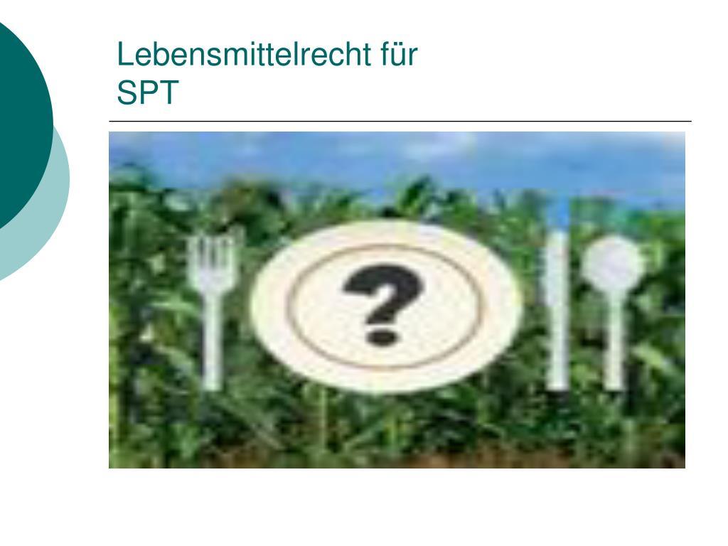 Lebensmittelrecht für