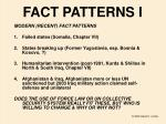 fact patterns i