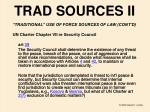 trad sources ii