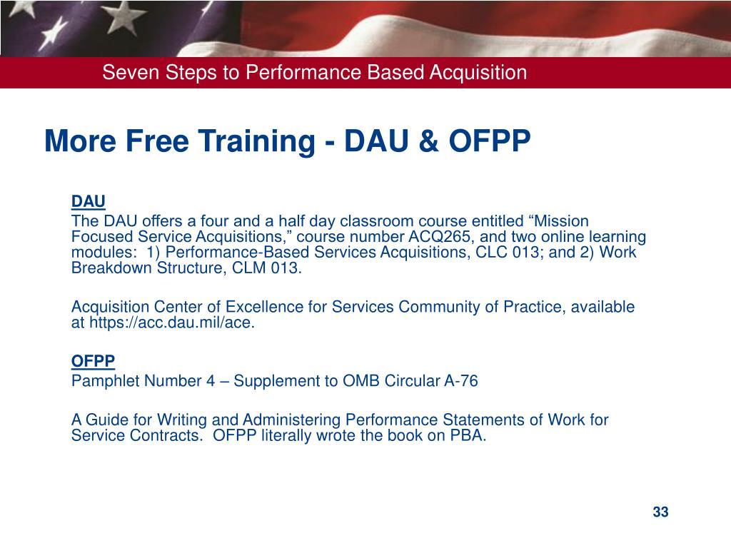 steps dau acquisition seven performance based ppt powerpoint presentation