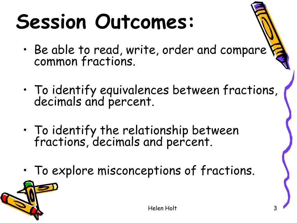 Session Outcomes: