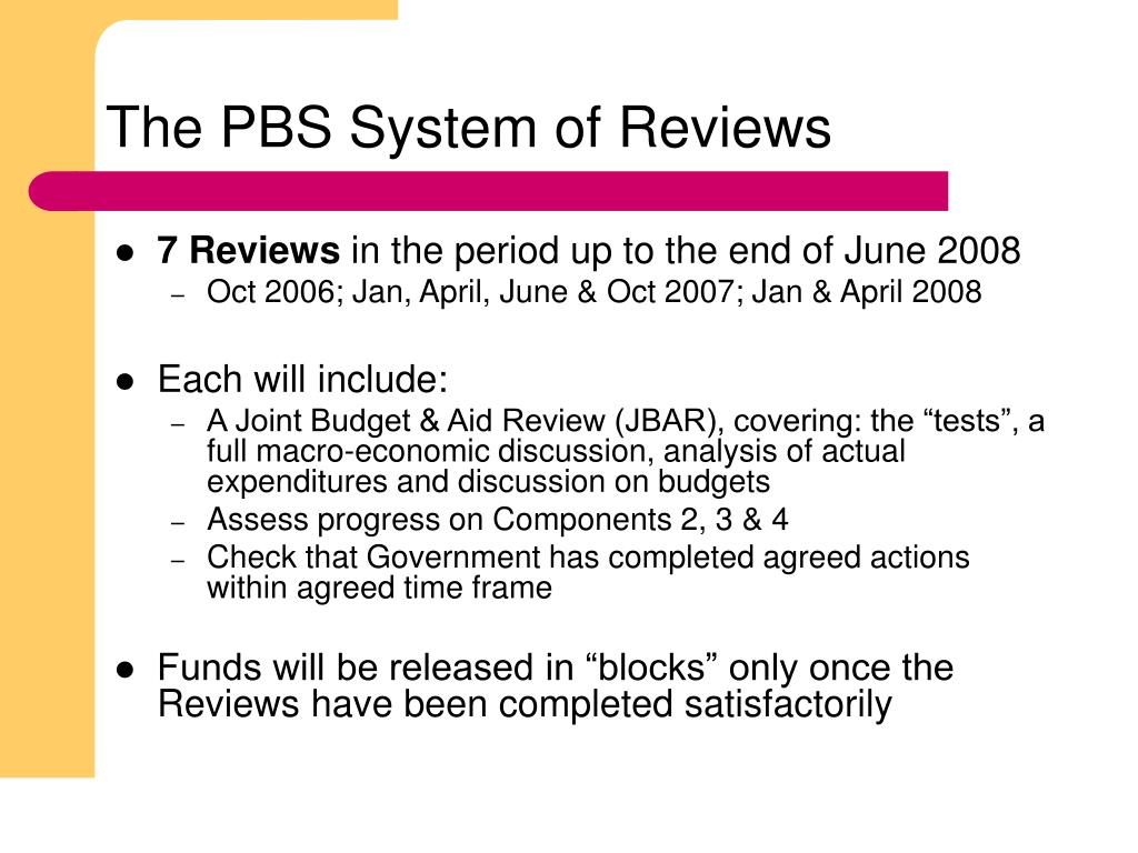 The PBS System of Reviews