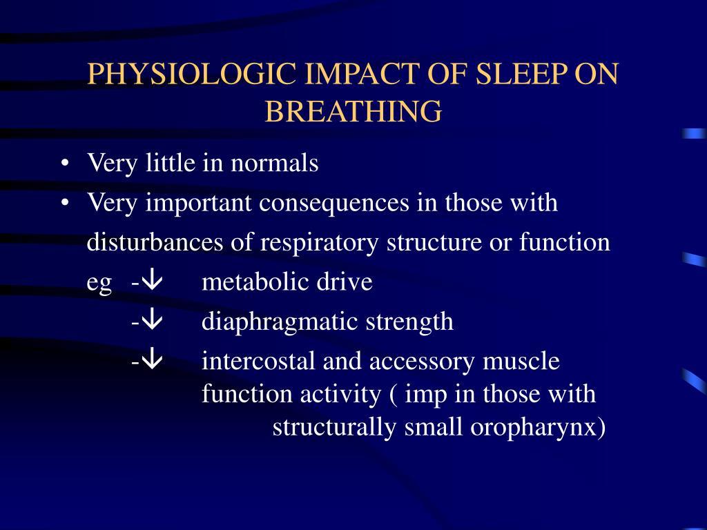 PHYSIOLOGIC IMPACT OF SLEEP ON BREATHING