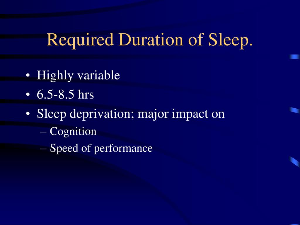 Required Duration of Sleep.