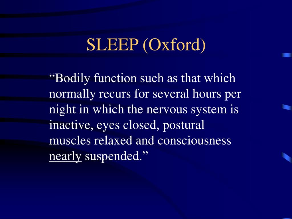 SLEEP (Oxford)