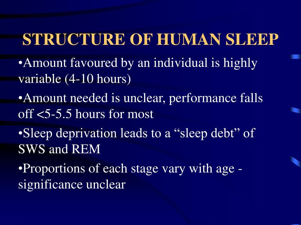 STRUCTURE OF HUMAN SLEEP