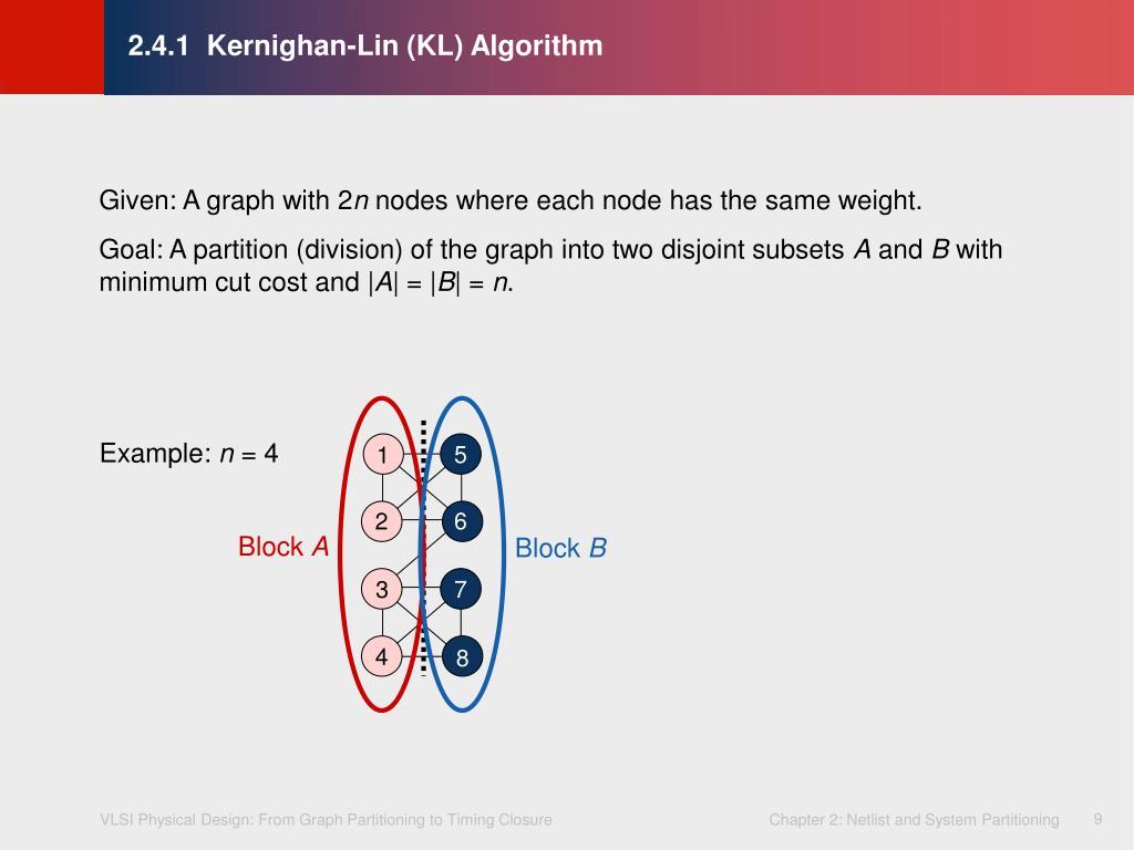 2.4.1  Kernighan-Lin (KL) Algorithm