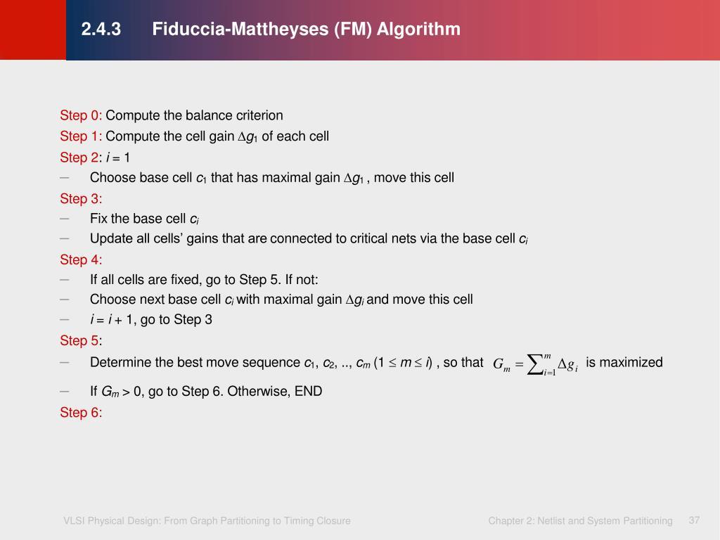 2.4.3Fiduccia-Mattheyses (FM) Algorithm