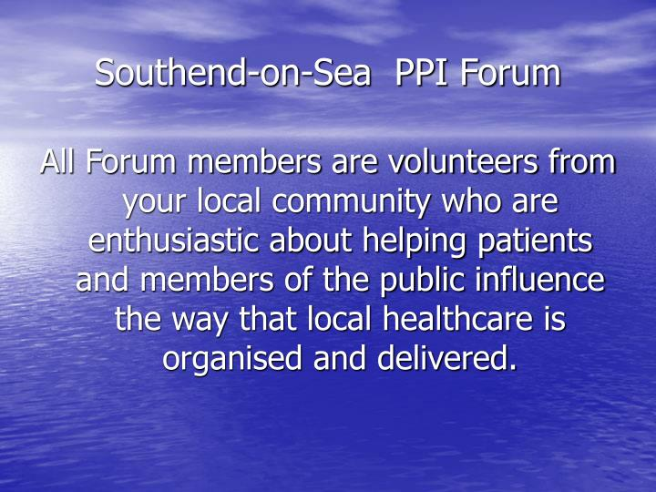 Southend on sea ppi forum