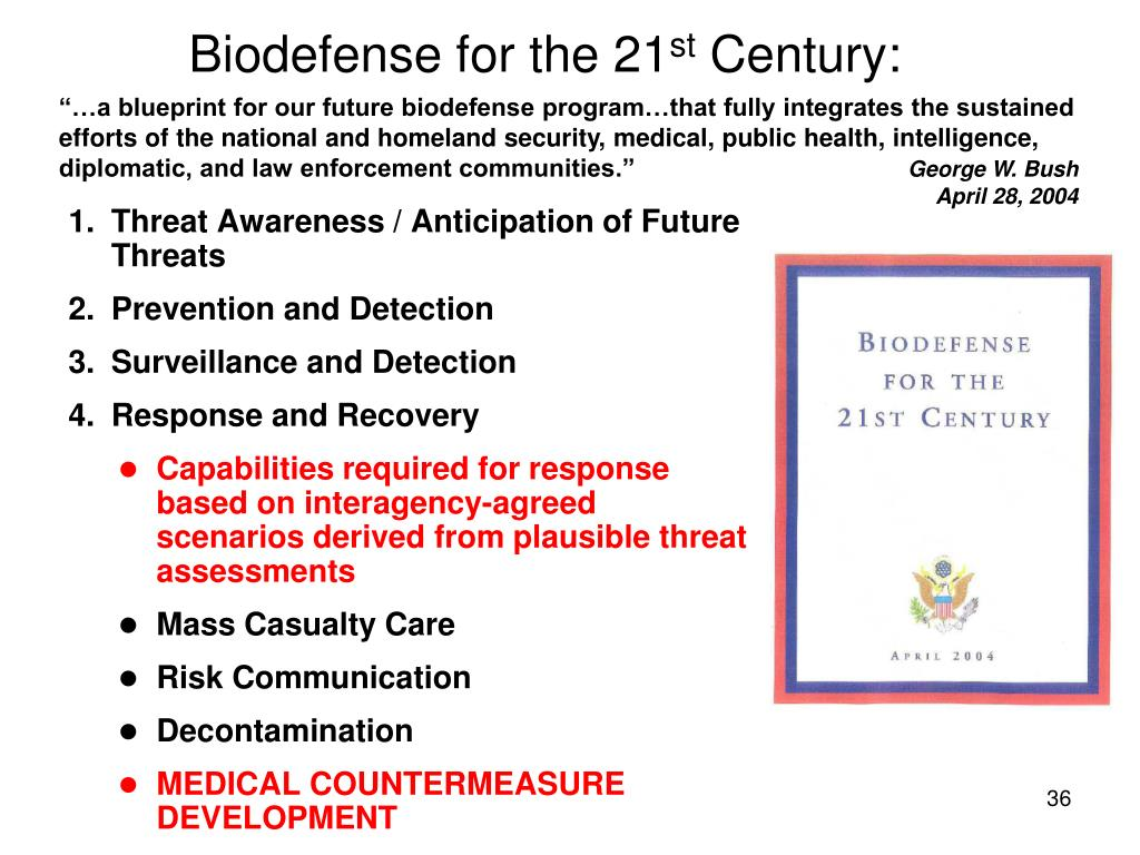 Biodefense for the 21