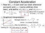 constant acceleration16