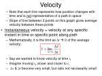 velocity7
