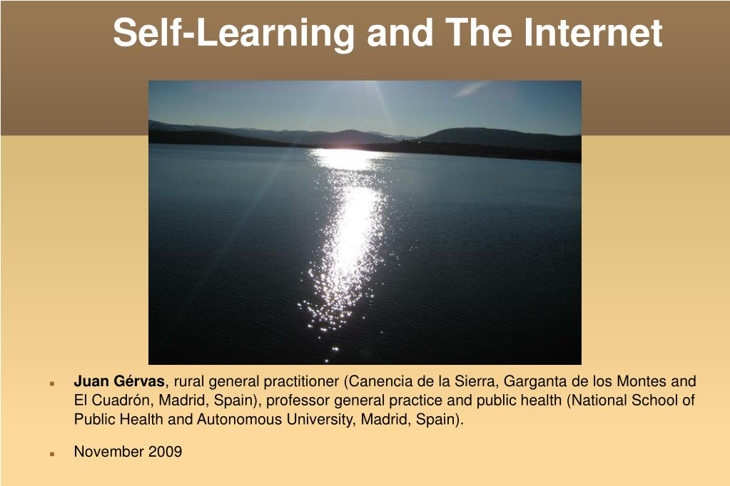 self learning and the internet l.
