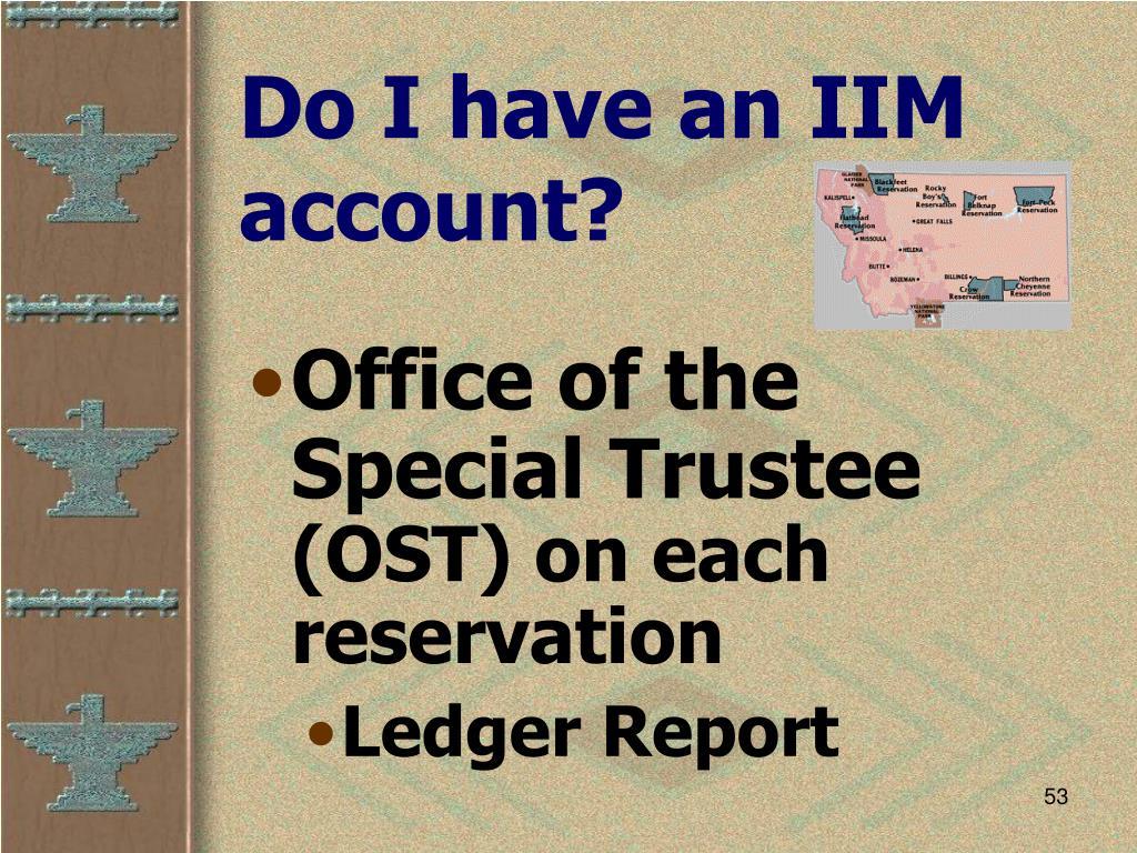 Do I have an IIM account?